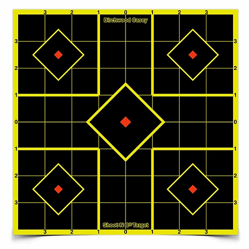 SHOOT•N•C® 8 INCH SIGHT-IN, 15 TARGETS - 36 PASTERS