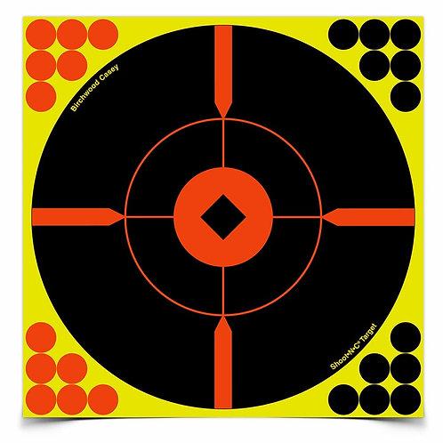SHOOT•N•C® 12 INCH BULL'S-EYE BMW, 5 TARGETS - 120 PASTERS