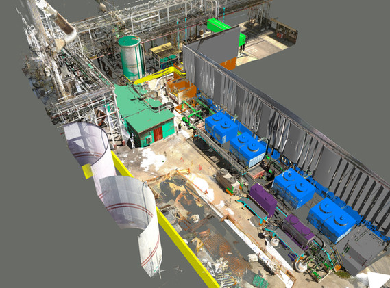 Industrial plant area layout