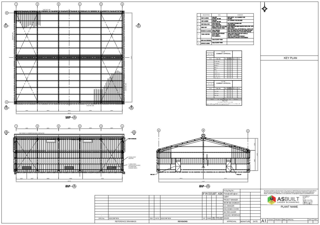 Structural layout of storage structure