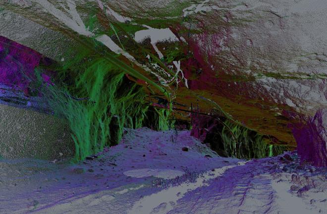 Underground mining development.