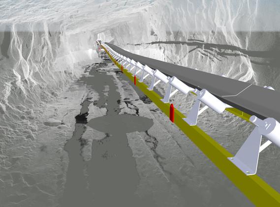 Underground conveyor layout