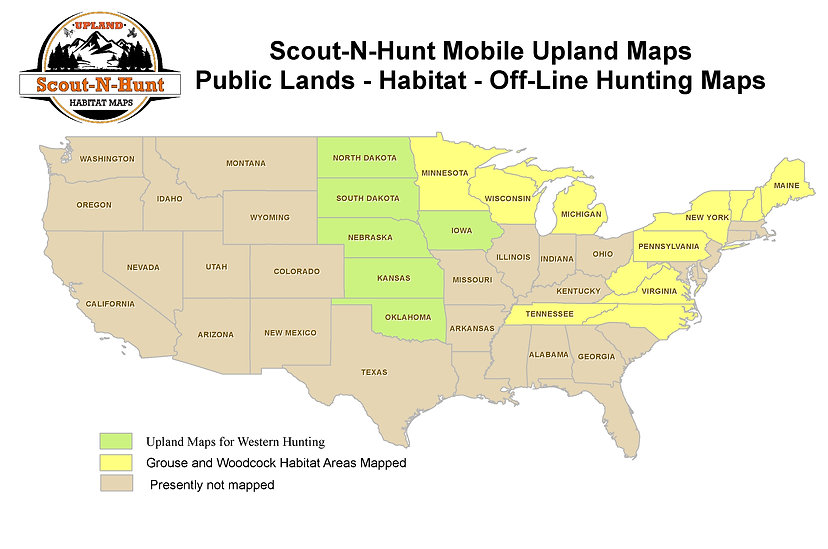 Upland Indiana Map.Best Grouse Hunting Gps Maps Scout N Hunt