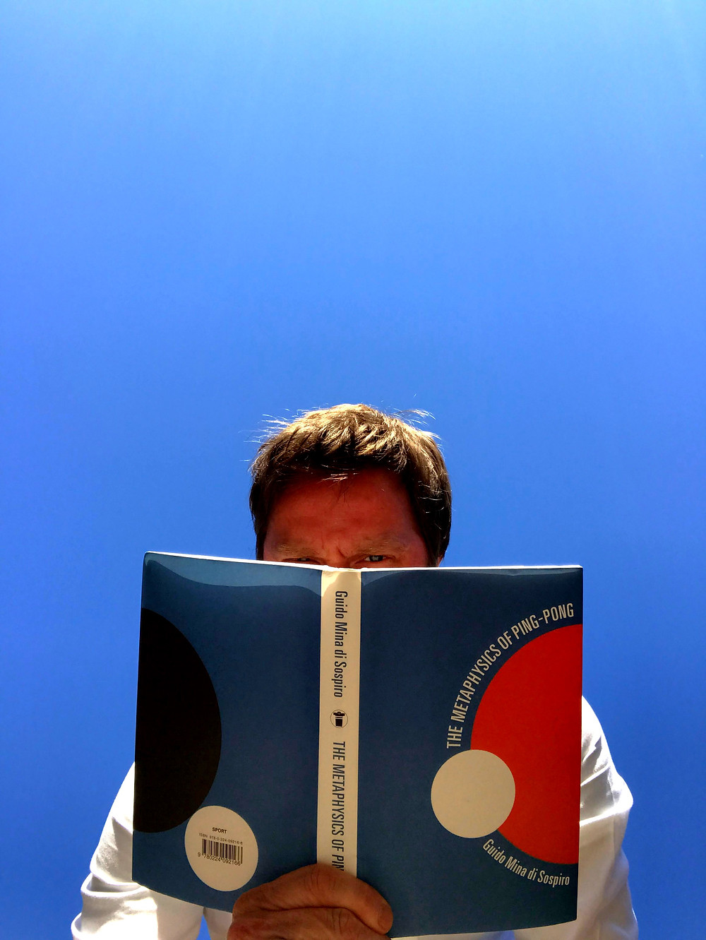 Cover of US Edition of Metaphysics of Pingpong, by Guido Mina di Sospiro