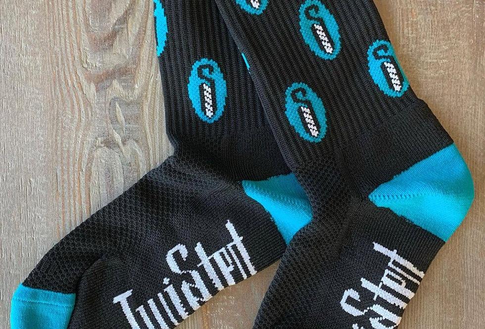 Twisted Spike Socks