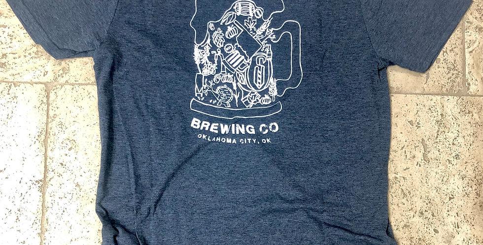 Navy Twisted Spike Beer Mug Logo