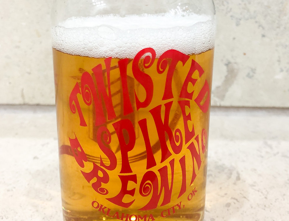 Funky Twisted Pint Glass