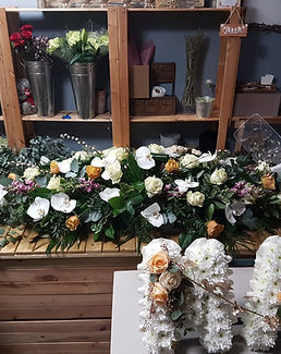 Flowers for coffin funeral
