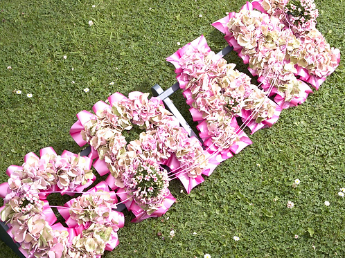Beautiful Hydrangea Massed Letters