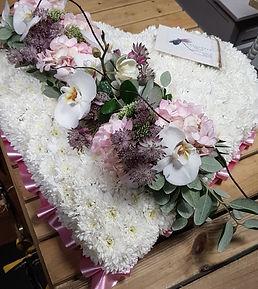 Flower heart for funeral