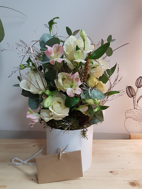 Delicate Design in pot Florist Choice