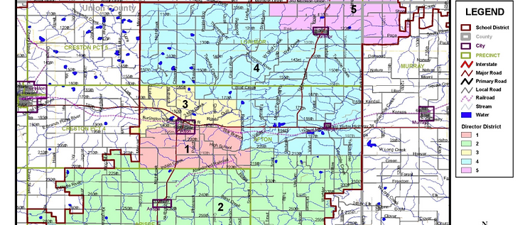 East Union School District boundaries