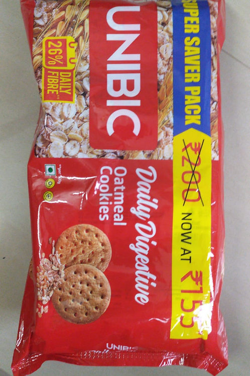 Unibic Daily Digestive Oatmeal Cookies - (150g x 4 packets) 600g