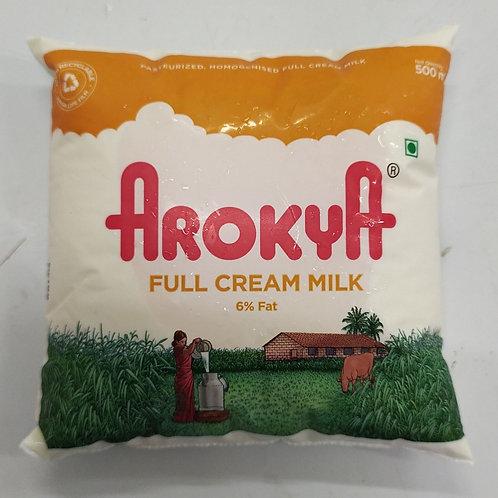 Arokya Full Cream Milk - 500ml