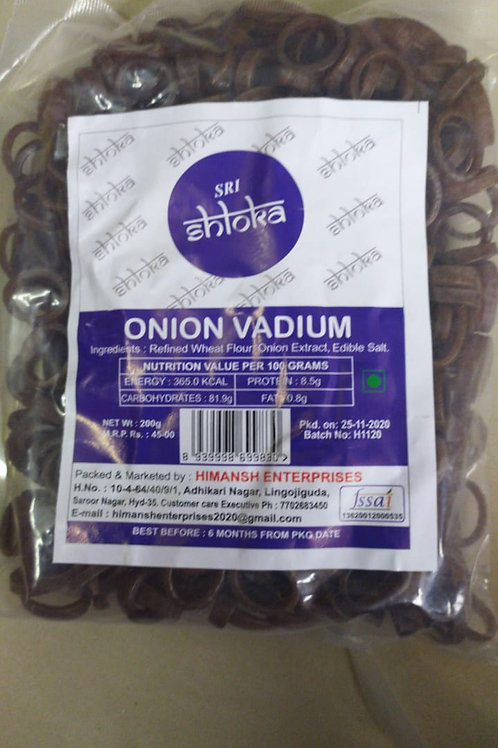 Sri Shloka Onion Vadium - 200g