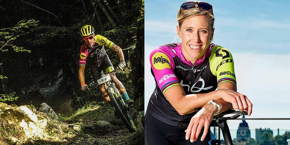 Träning: löpträna med Lisa Nordén eller cykla MTB med Calle Friberg