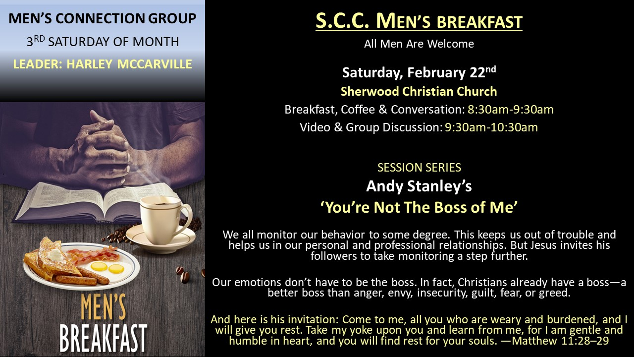 Men's Connection Group - Harley McCarvil