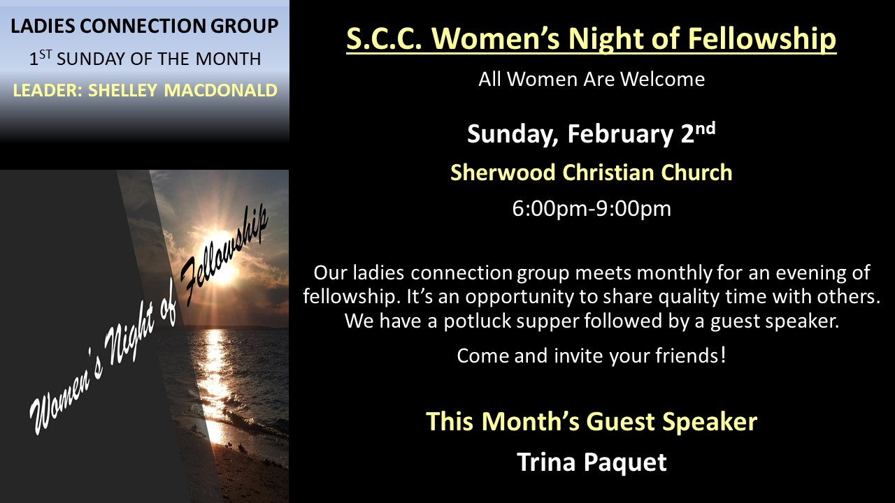 Ladies Sunday Evening Connection Group -