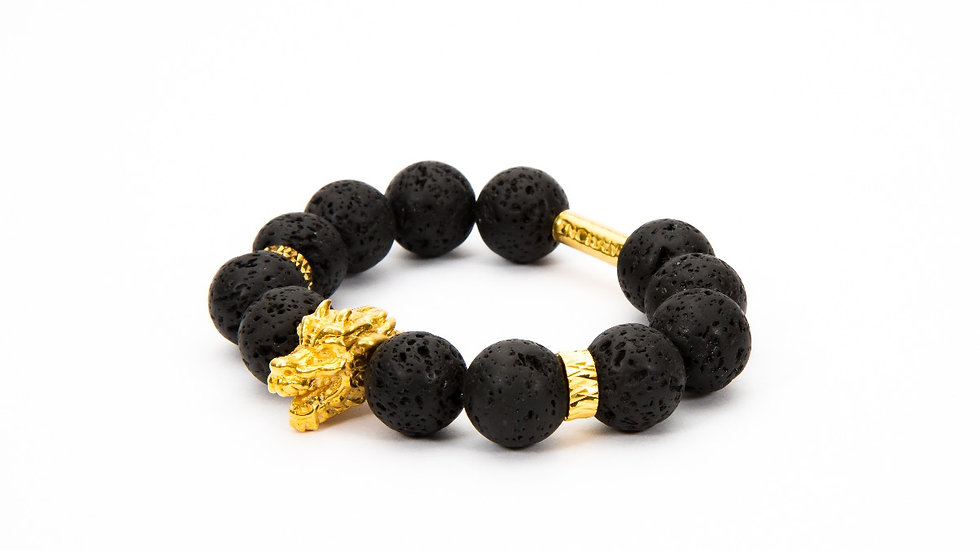 Dragon Head Gold Black Lava