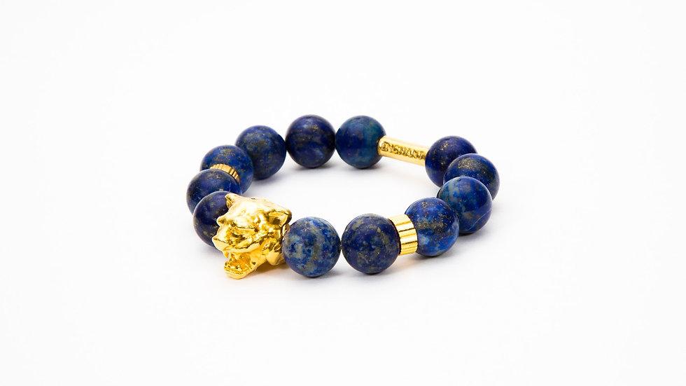 Tiger Head Gold Blue Lapis Lazuli