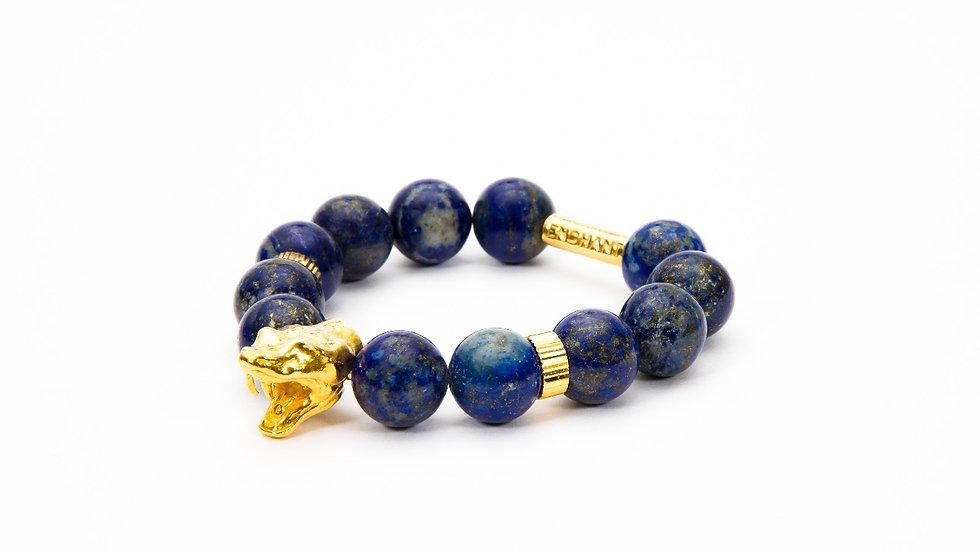 Serpent Head Gold Blue Lapis Lazuli