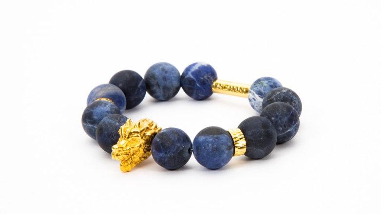 Dragon Head Gold Blue Sodalite