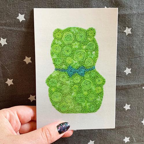Floral Pop Kuchi Kopi 4x6 Embroidery Print