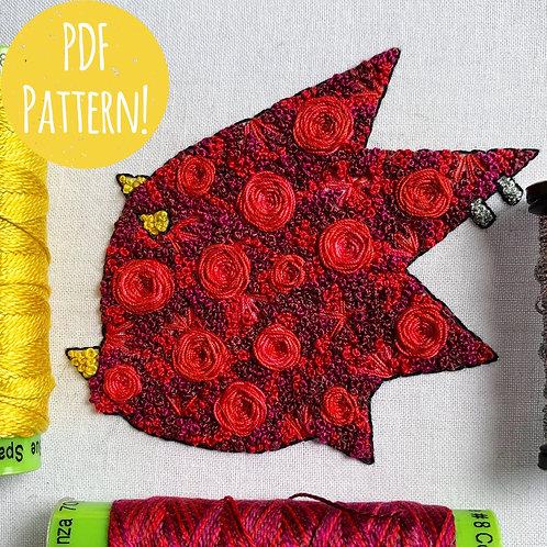 Floral Pop Flick PDF Pattern