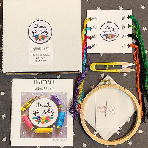 Treat Yo Self DIY Embroidery Kit