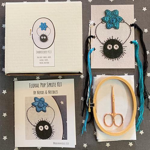Floral Pop Soot Sprite DIY Embroidery Kit