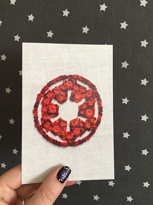 Floral Pop Imperial Insignia 4x6 Embroidery Print