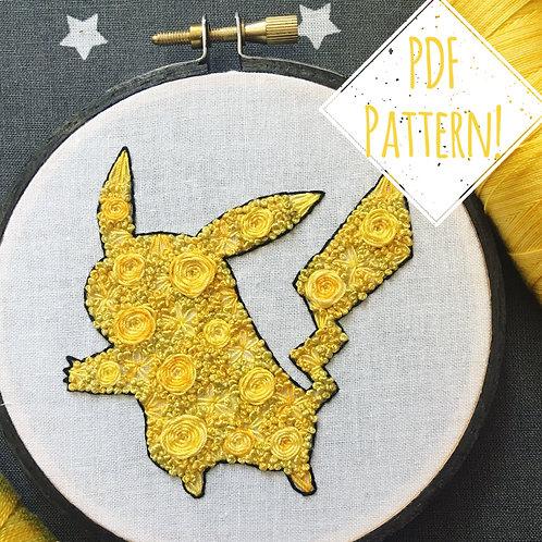 Floral Pop Pikachu PDF Pattern