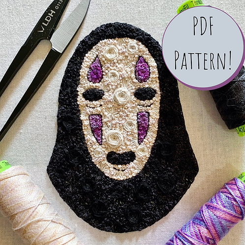 Floral Pop No Face PDF Embroidery Pattern