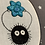 "Thumbnail: Floral Pop Soot Sprite Original 3.5""x5"" Embroidery Art"