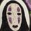 """Thumbnail: Floral Pop No Face Kaonashi Spirited Away Original 3.5""""x5"""" Embroidery Art"""