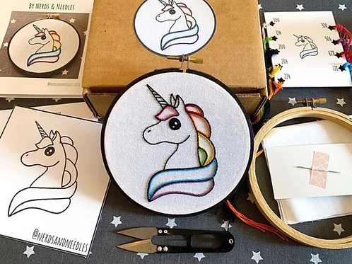 Rainbow Unicorn DIY Embroidery Kit