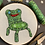 "Thumbnail: Floral Pop Animal Crossing Froggy Chair Original 4"" Embroidery Art"