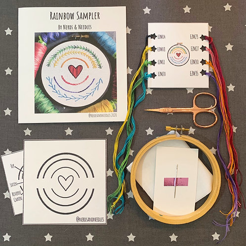 Rainbow Sampler DIY Embroidery Kit