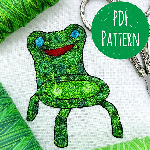 Floral Pop Froggy PDF Pattern