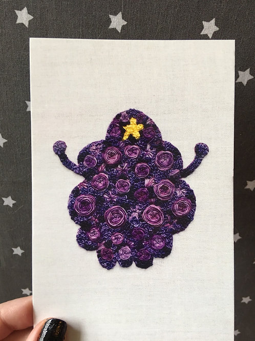 Floral Pop Lumpy Space Princess 4x6 Embroidery Print