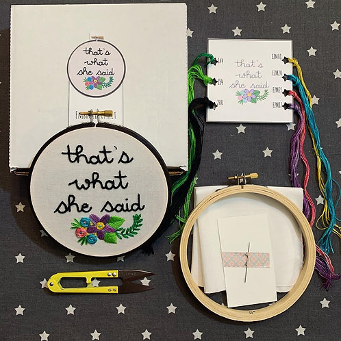That's What She Said DIY Embroidery Kit