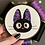 "Thumbnail: Floral Pop Original Jiji Kiki's Delivery Service 4"" Embroidery Art"