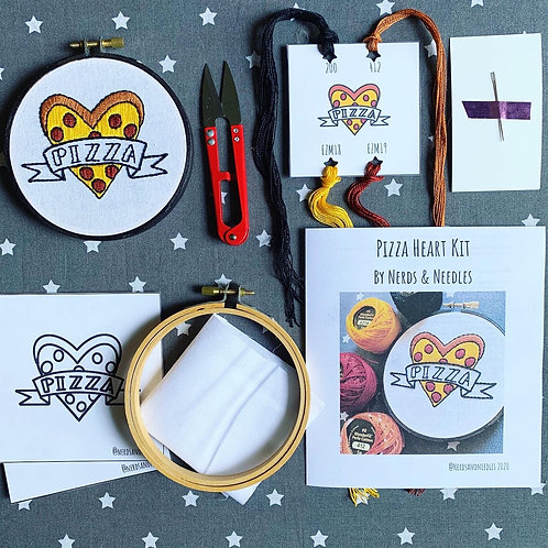 Pizza Love DIY Embroidery Kit