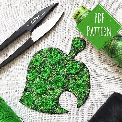 Floral Pop Leaf PDF Pattern