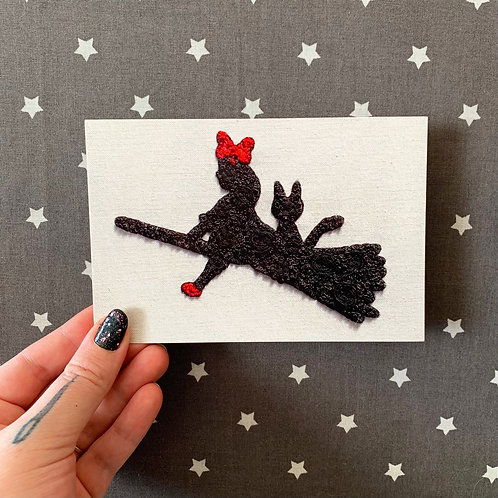 Floral Pop Kiki's Delivery Service 4x6 Embroidery Print