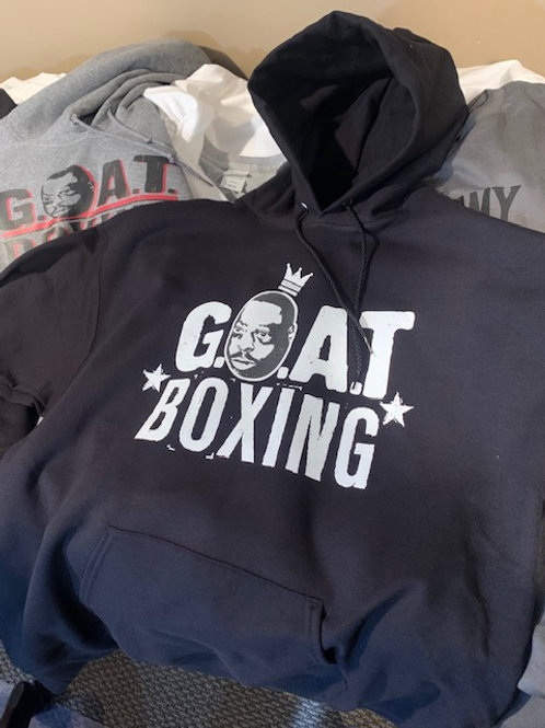 G.O.A.T. BOXING CROWN BLACK HOODED SWEATSHIRT