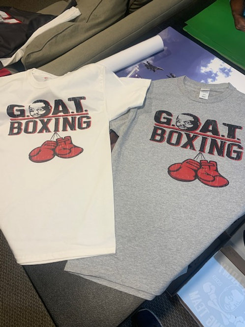G.O.A.T BOXING RED GLOVES SHORT SLEEVE T