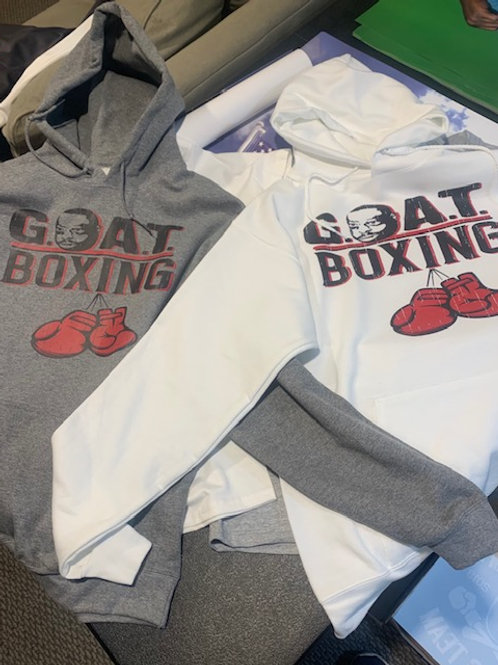 G.O.A.T BOXING RED GLOVES HOODED SWEATSHIRT