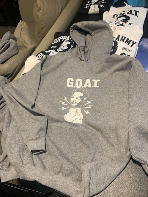 G.O.A.T. HOODED GRAY W/WHITE