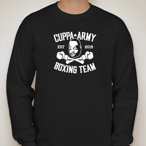 OFFICIAL BLACK CUPPA ARMY BOXING TEAM LONG SLEEVE T